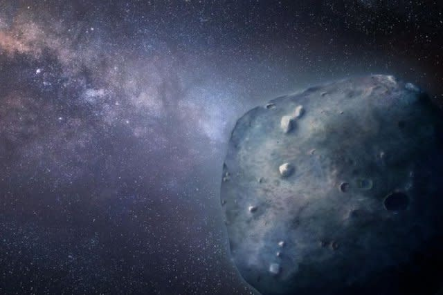 3200 Phaethon, a blue rocky object, continues to puzzle scientists, but a close flyby last year answered a few lingering questions as researchers continue to study this weird rock. (Credit: Heather Roper/University of Arizona)