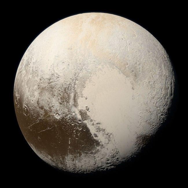 Pluto's northern hemisphere