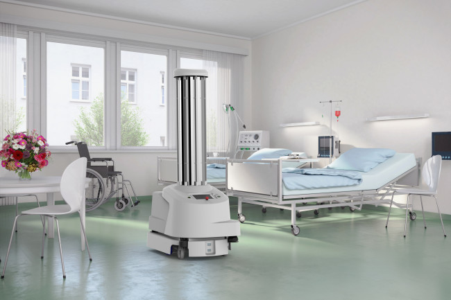 UVDR Robot in hospital room - Blue Ocean Robotics