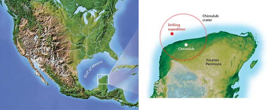 map of drilling expedition