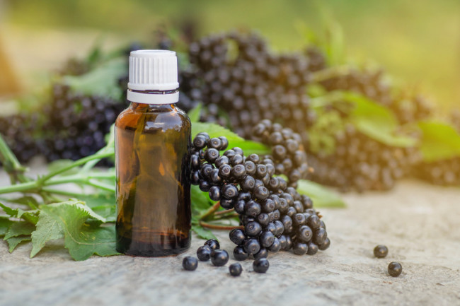 elderberry syrup flu alternative medicine - shutterstock