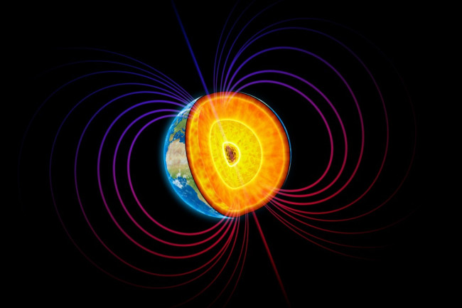 Earth Core and Magnetic Field - Shutterstock