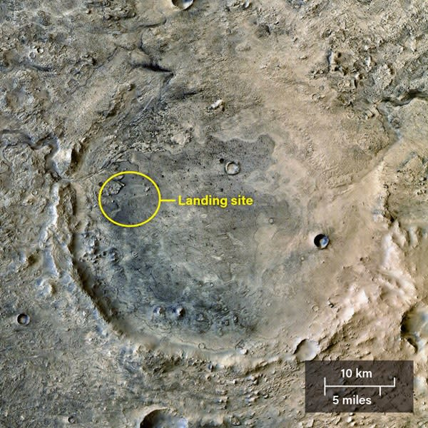 Jezero Crater, Mars - NASA