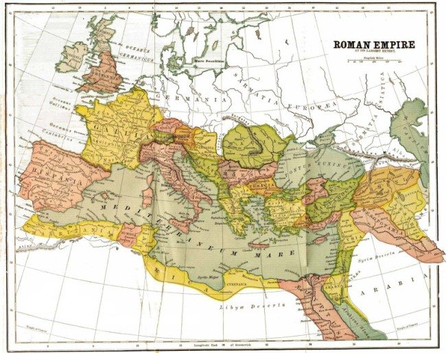 map of ancient roman empire at its peak