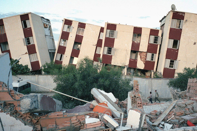 Earthquake Damage, Boumerdes Algeria 2003 - Getty