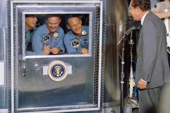 Apollo 11 NASA quarantine nixon astronauts