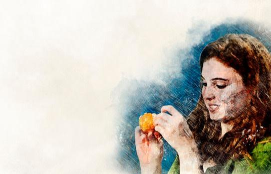 Peeling an Orange - Mackey/Shutterstock