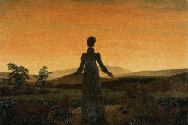 Caspar David Friedrich - Woman before the Rising Sun (Woman before the Setting Sun) - Wikimedia Commons Public Domain
