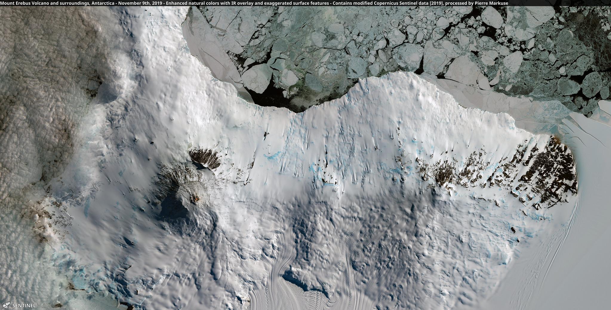 Mount Erebus Volcano Antarctica broad view