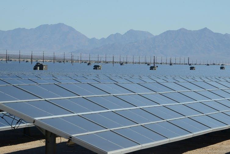 Mojave Desert solar plant