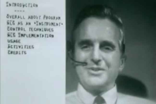 Doug Engelbart demo 1968