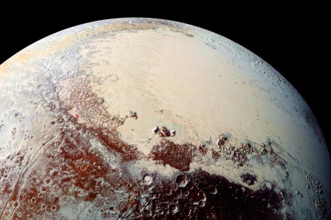 Pluto via New Horizons - NASA
