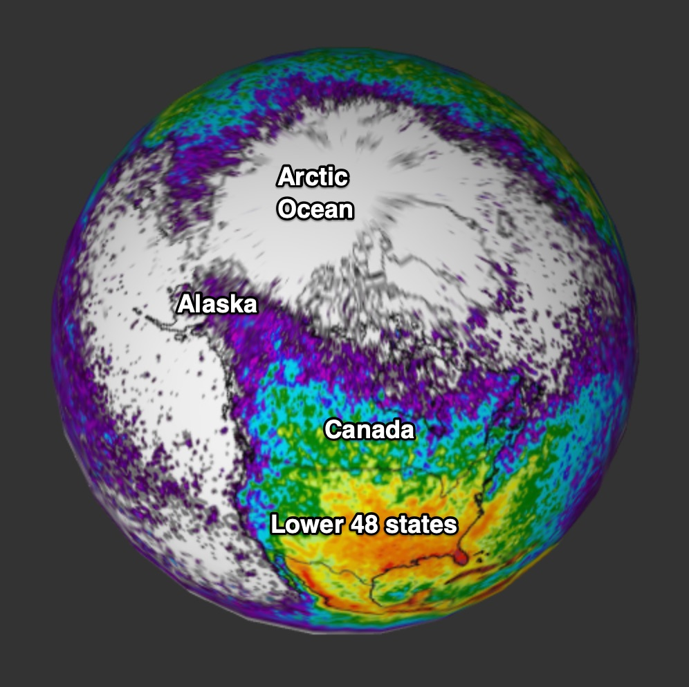 Lightning Flash Rate Dataset Science On a Sphere - NOAA