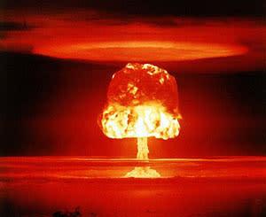 Nuclear Explosion Mushroom Cloud Bikini Atoll - U.S. DOE