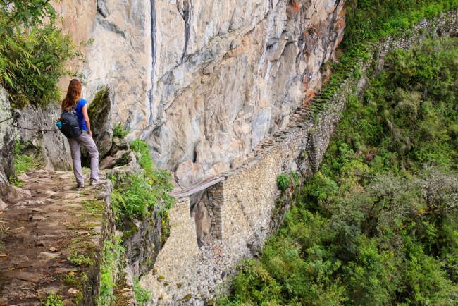Inca Trail bridge near Machu Picchu