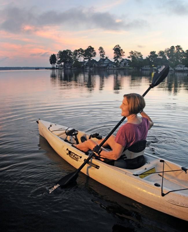 Sally Weinrich Kayaking - Ernie Mastroianni/Discover