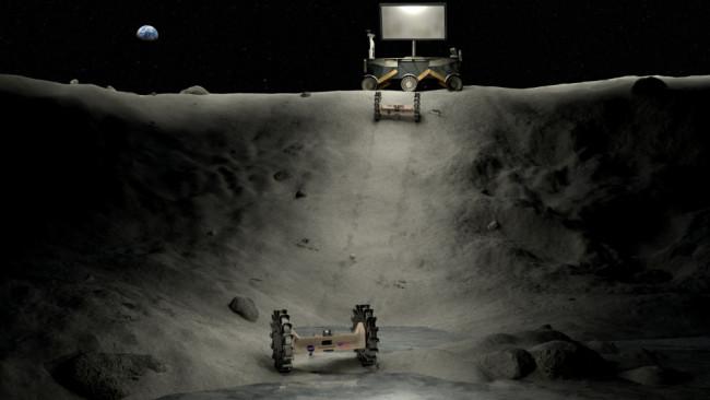 moon crater rover radio telescope
