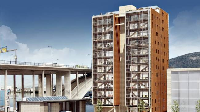 Treet, wood building, Norway - Bergen and Omegn Building Society