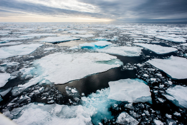arctic melting ice climate change - shutterstock