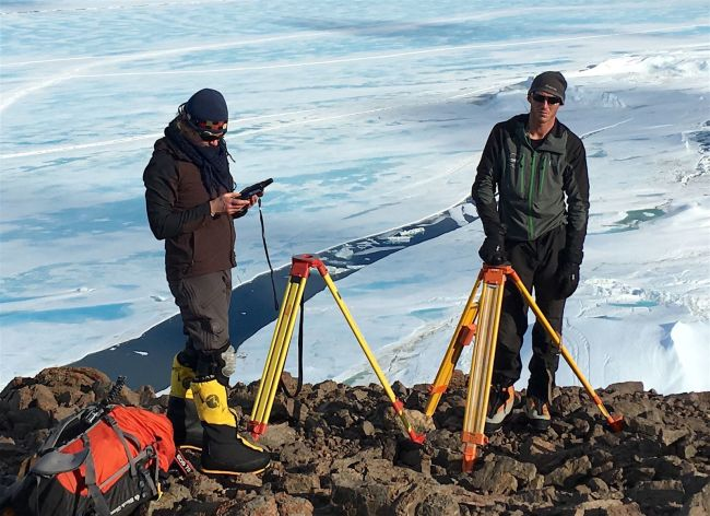 Researchers at Scar Inlet Ice Shelf - U Alaska