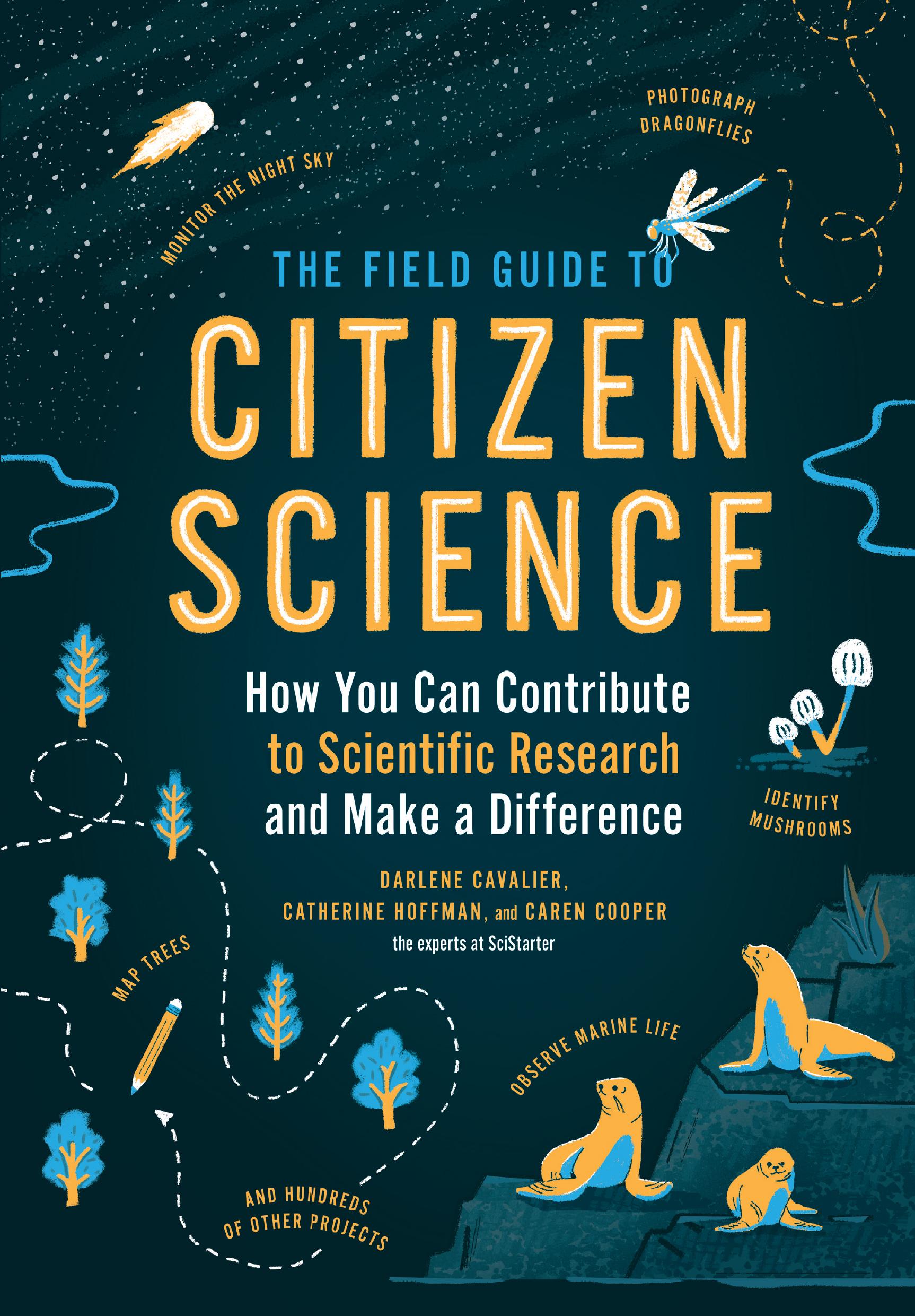 Portada del libro para la guía de campo de la ciencia ciudadana