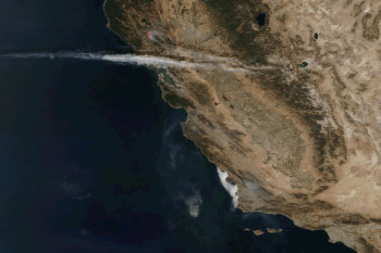 Nine Days of California Infernos, as Seen from Space