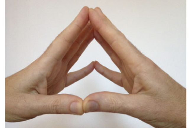 Bathtub Illusion, Hands in Triangle - i-Perception