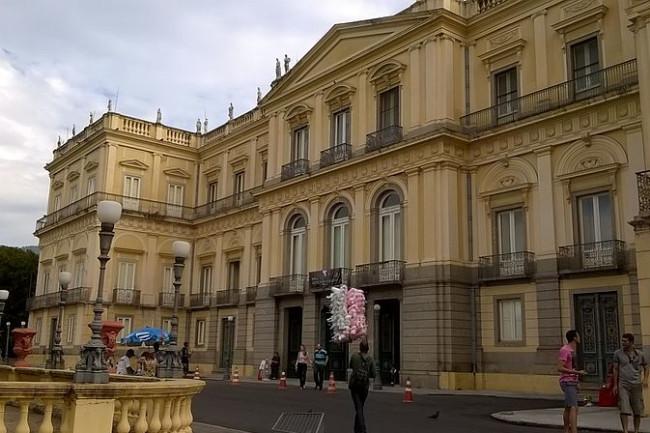 Brazil's Museu Nacional, or National Museum, in a 2015 photo. (Credit: Wikimedia Commons/Odair Bernardo)
