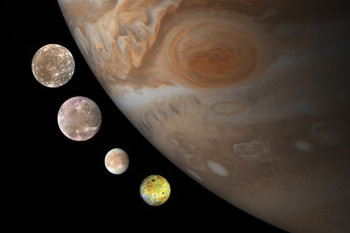 Jupiter's Largest Moons Might Have Formed From Dust