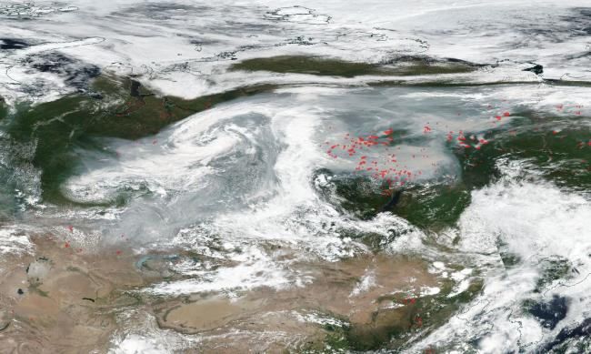 Siberia Smoke Wildfires - NASA