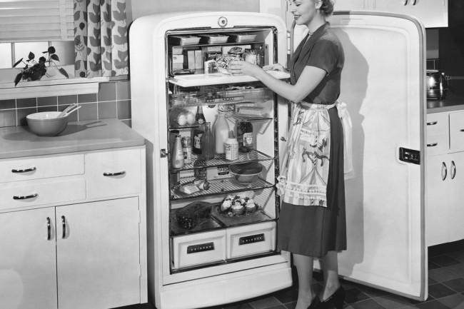 Vintage Antique Old Refrigerator 1950s - Shutterstock