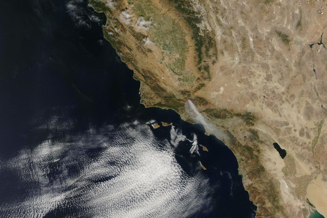 September 2006 MODIS image of southern California taken by the Aqua satellite. NASA Earth Observatory.