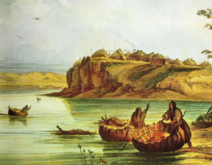 Mandan_Bull_Boats_and_Lodges-_George_Catlin.jpg