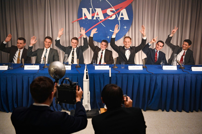 The Right Stuff, 1959 NASA press conference - Gene Page/National Geographic/Disney+