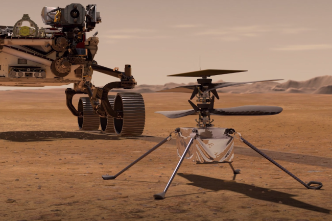 perseverance rover and ingenuity helictoper mars