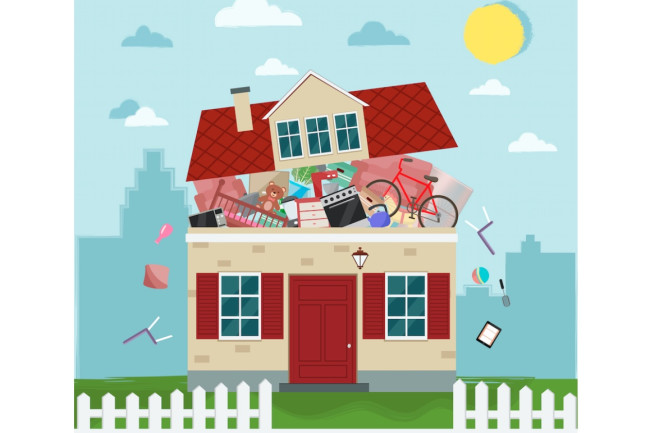 hoarder illustration - shutterstock