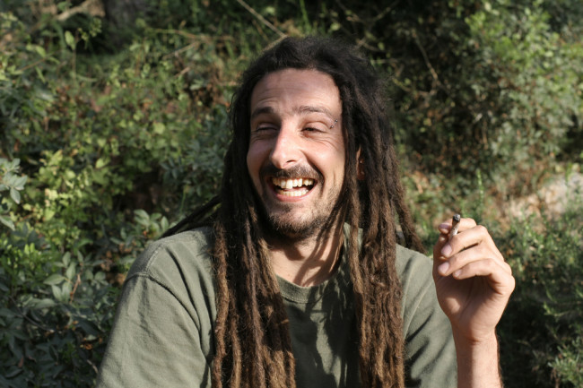High Drugs Smoking Hippy - Shutterstock