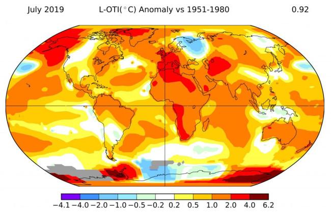 July 2019 Heat Record - NASA