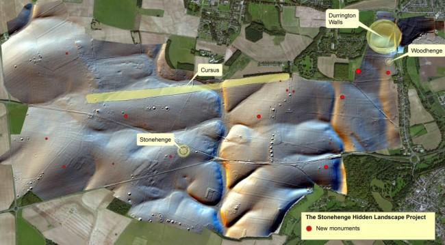 monument distribution - stonehenge hidden landscapes project