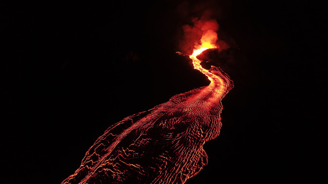 Lava erupting from Fissure 8