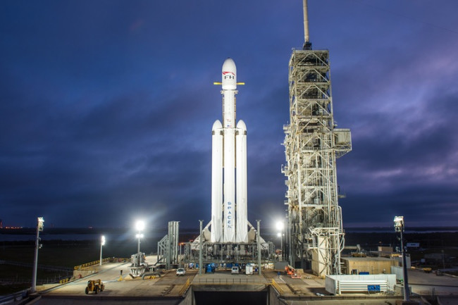 SpaceX's Falcon Heavy Rocket May Launch Its First Commercial Flight Soon
