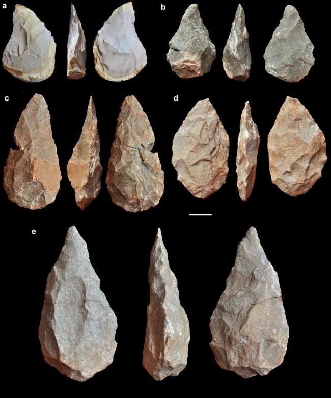 Acheulean hand axes - stone tool