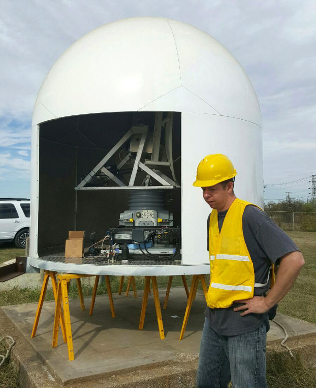 Engineer radar device for Texas tornado