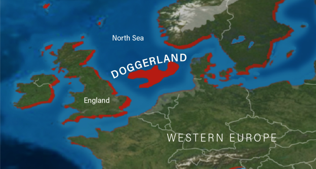 Doggerland Map - Deep Time Maps Mackey Discover