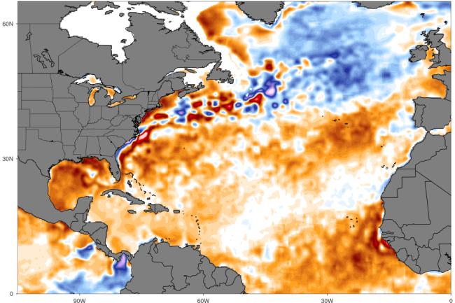 Sea Surface Temperatures Anomalies