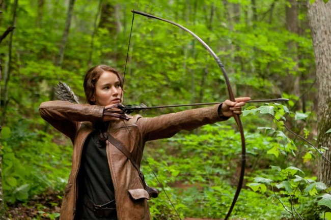 "Katniss Everdeen in the film ""The Hunger Games."" Credit: Lionsgate Entertainment"