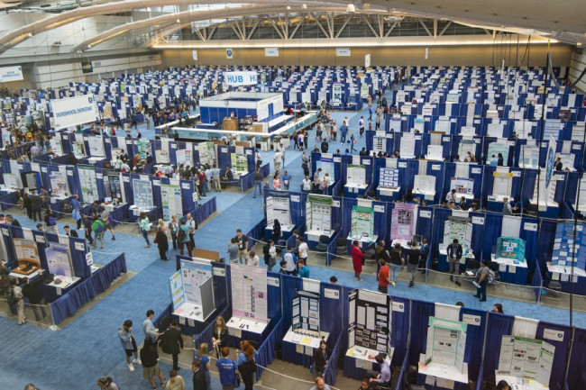 This is where the magic happens: The main judging hall for the Intel International Science and Engineering Fair. (Credit: Chris Ayers/Society for Science & the Public)