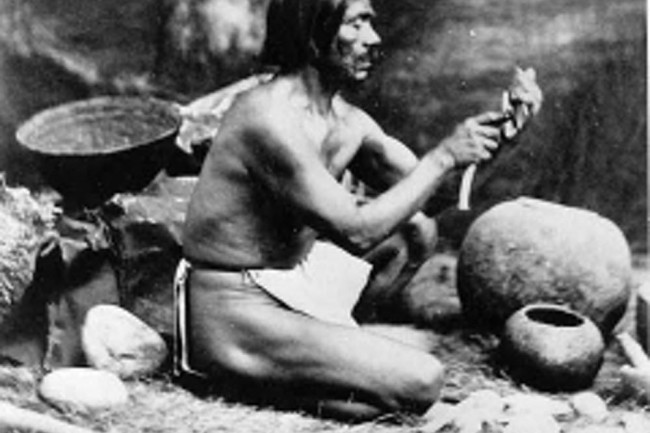 Rafael, a Chumash who shared Californian Native American cultural knowledge with anthropologists in the 1800s. (Credit: Leon de Cessac)