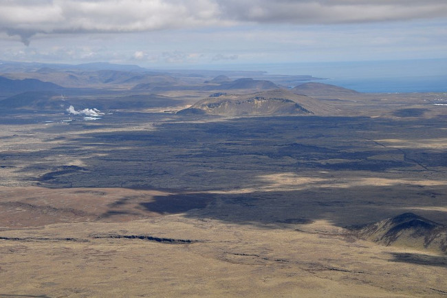 A view of the Reykjanes Peninsula