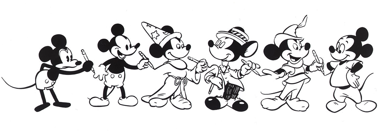 Mickey Mouse evolution - Getty